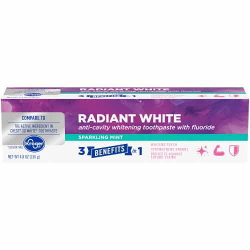 Kroger® Radiant White Sparkling Mint Anticavity Fluoride Toothpaste Perspective: front