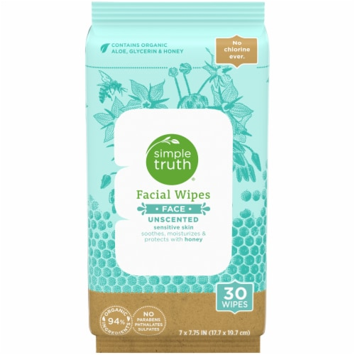 Simple Truth™ Unscented Facial Wipes Perspective: front