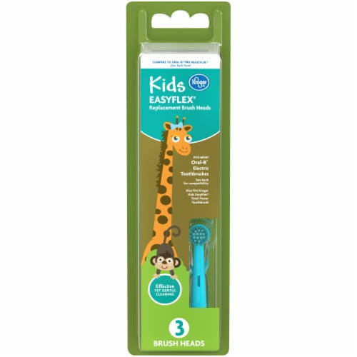 Kroger® Kids Easyflex® Replacement Brush Heads Perspective: front