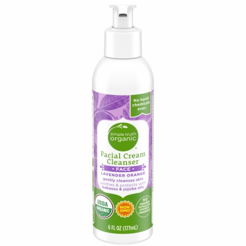 Simple Truth Organic™ Lavender Orange Facial Cream Cleanser Perspective: front