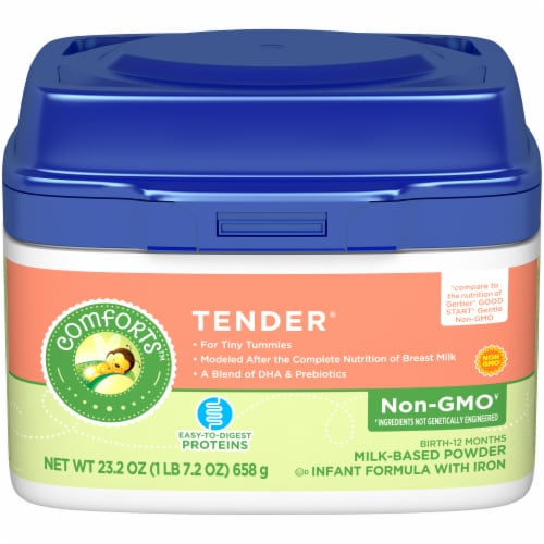 Comforts™ Tender® Milk-Based Infant Formula Powder With Iron Perspective: front