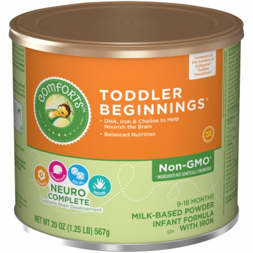 Comforts™ Toddler Beginnings Milk-Based Infant Formula Powder With Iron Perspective: front