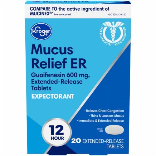 Kroger® Mucus Relief ER Expectorant Extended Release Tablets 600mg Perspective: front