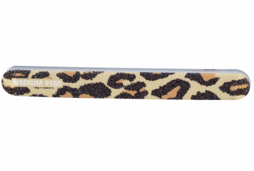 Kroger® Nail Shaper Files - Leopard Perspective: front