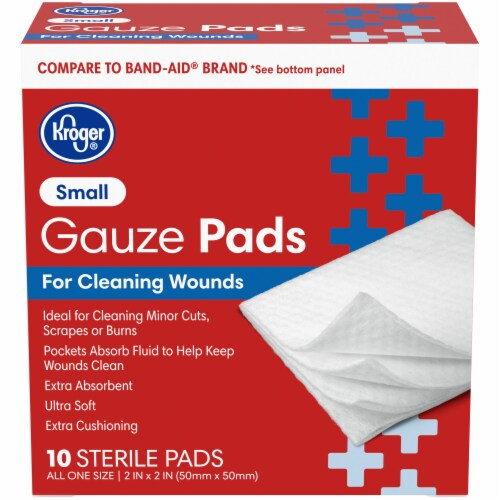 Kroger® Small Gauze Pads 10 Count Perspective: front