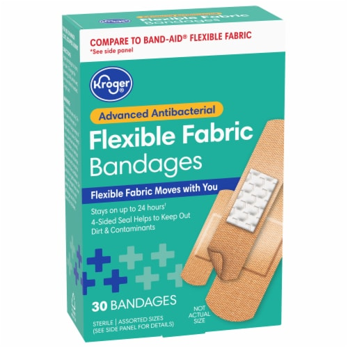 Kroger® Advanced Antibacterial Fabric Bandages Assorted Sizes Perspective: front