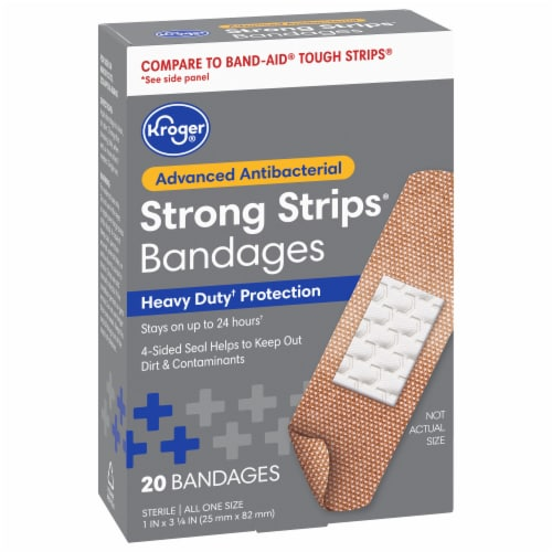 Kroger® Advanced Antibacterial Strong Strips Bandages Perspective: front