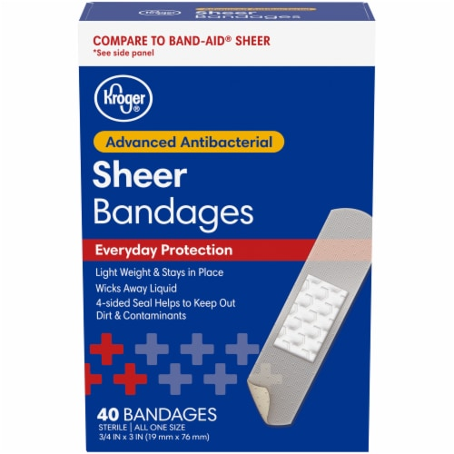 Kroger® Antibacterial Sheer Bandages 40 Count Perspective: front