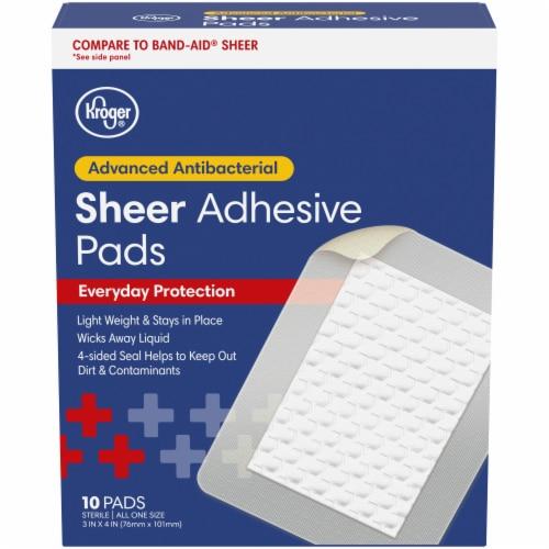 Kroger® Antibacterial Sterile Sheer Adhesive Pads Perspective: front