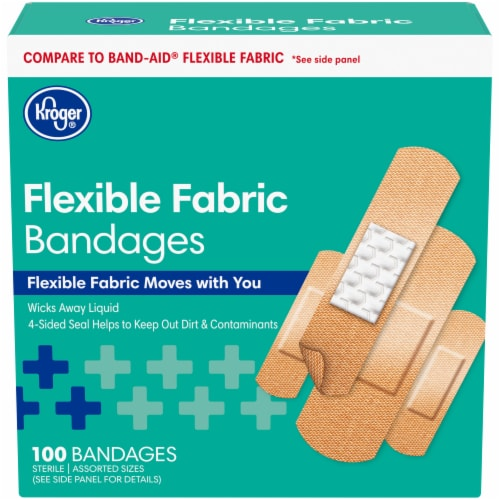 Kroger® Fabric Bandages Assorted Sizes Perspective: front