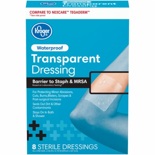 Kroger® Waterproof Transparent Dressing 8 Count Perspective: front