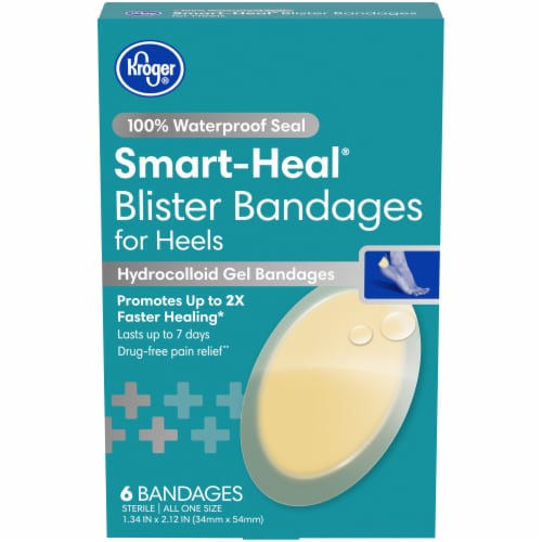 Kroger® Smart-Heal Blister Bandages 6 Count Perspective: front