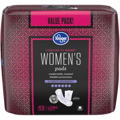 Kroger® Women's Long Ultimate Absorbency Pads Perspective: front