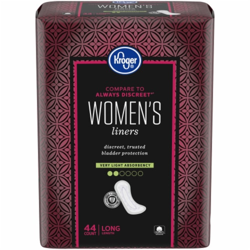 Kroger® Women's Very Light Long Liners 44 Count Perspective: front