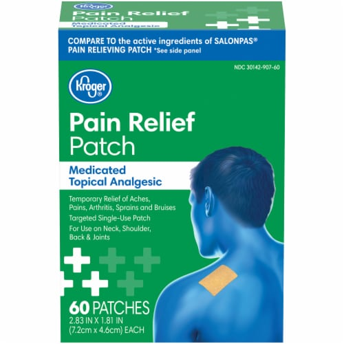 Kroger® Medicated Topical Analgesic Pain Relief Patch Perspective: front