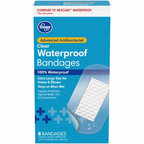 Kroger® Antibacterial Knee & Elbow Waterproof One Size Bandages 8 Count Perspective: front