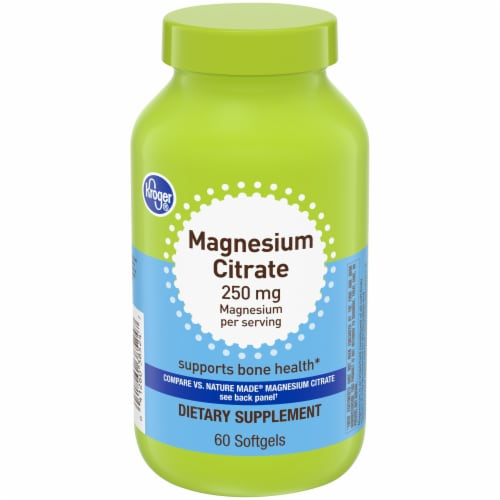 Kroger® Magnesium Citrate 250mg Softgels Perspective: front