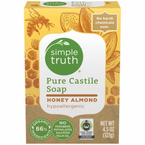Simple Truth™ Honey Almond Pure Castile Bar Soap Perspective: front