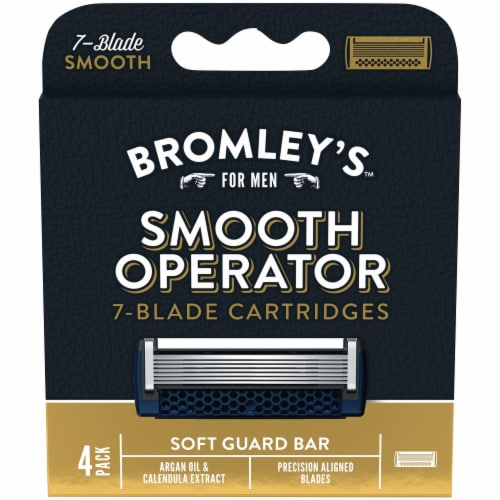 Bromley's™ for Men Smooth Operator 7-Blade Cartridges Perspective: front