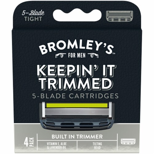 Bromley's™ For Men Keepin' It Trimmed 5-Blade Cartridges Perspective: front