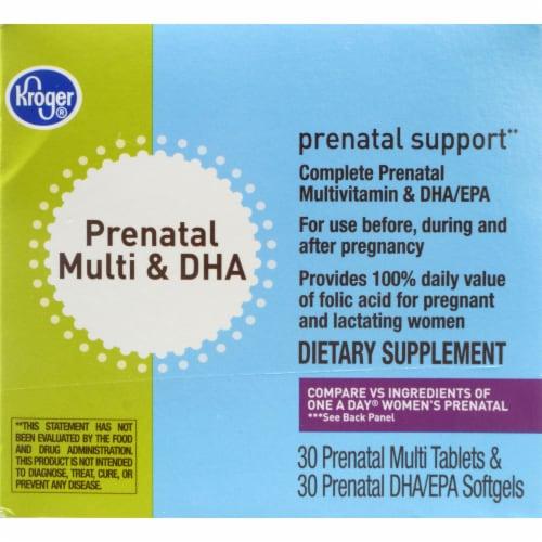 Kroger® Prenatal Multi & DHA Vitamin Tablets & Softgels Perspective: front