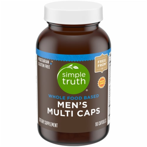 Simple Truth™ Men's Whole Food Based Multi Caps Bottle Perspective: front