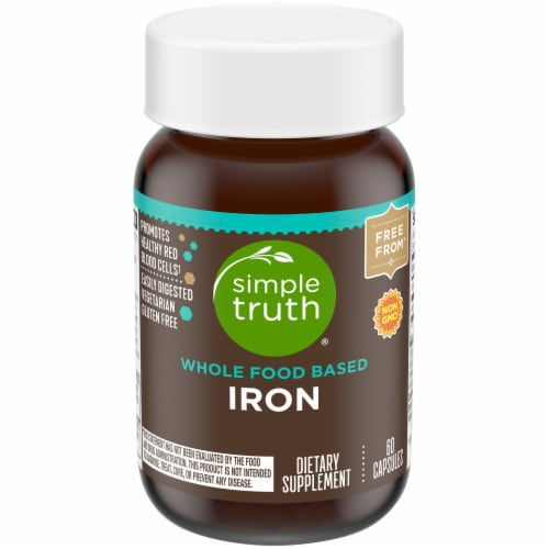Simple Truth™ Whole Food Based Iron Capsules Bottle Perspective: front