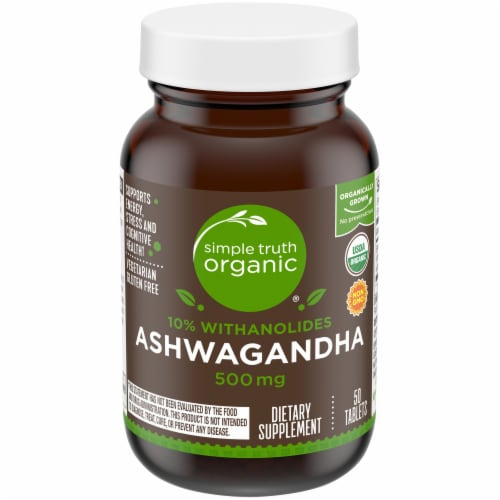 Simple Truth Organic™ Ashwagandha Tablets 500mg Perspective: front