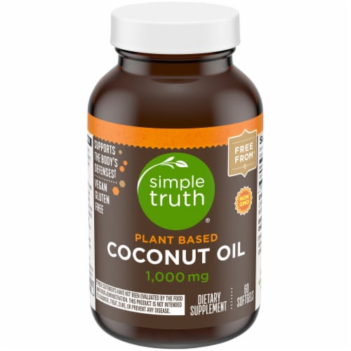 Simple Truth™ Plant Based Coconut Oil Softgels 1000mg 60 Count Perspective: front