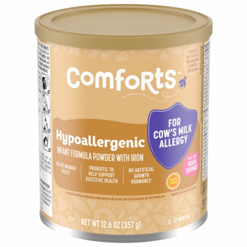 Comforts™ Hypoallergenic Infant Formula Powder with Iron Perspective: front