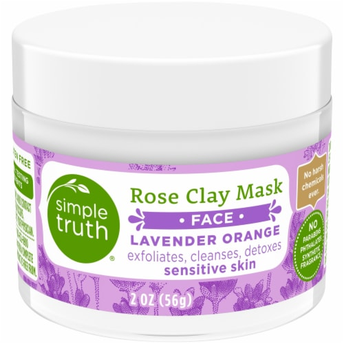 Simple Truth® Lavender Orange Rose Clay Face Mask Perspective: front