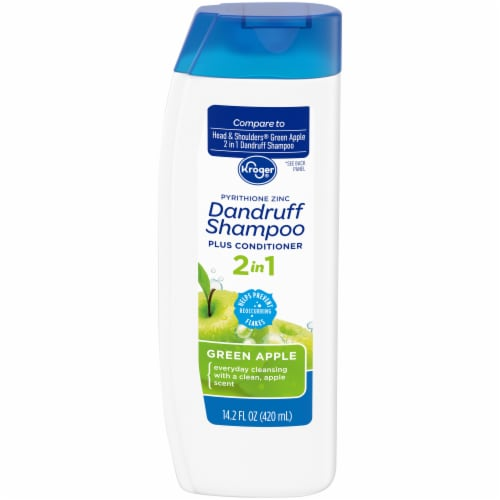 Kroger® Green Apple 2 in 1 Dandruff Shampoo Plus Conditioner Perspective: front