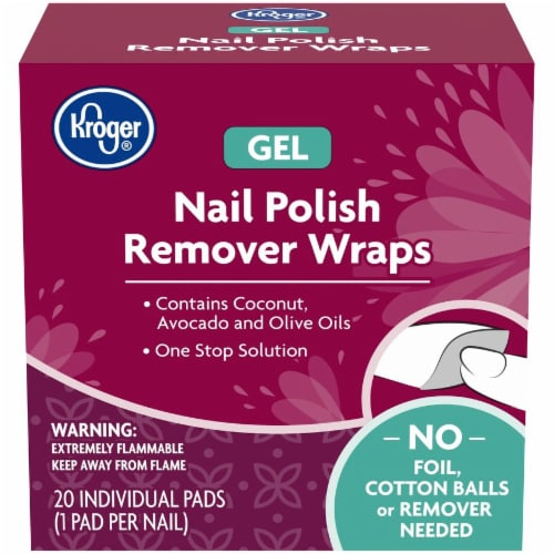 Kroger® Gel Nail Polish Remover Wraps 20 Count Perspective: front