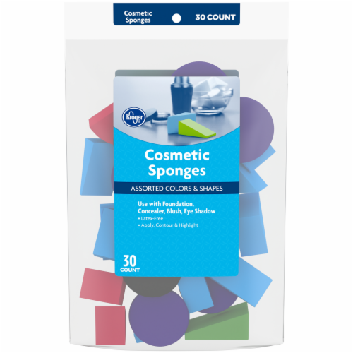 Kroger® Assorted Colors & Shapes Cosmetic Sponges Perspective: front