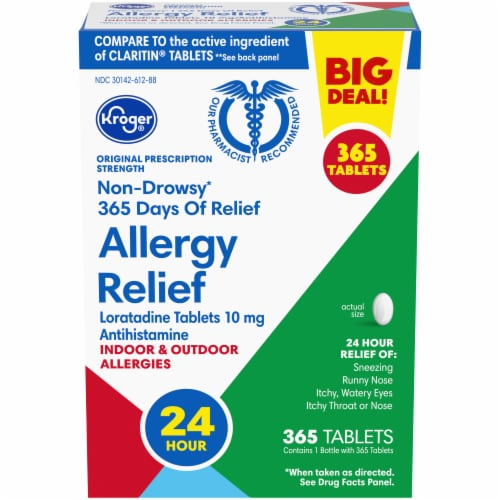 Kroger® Non-Drowsy Allergy Relief Tablets Perspective: front