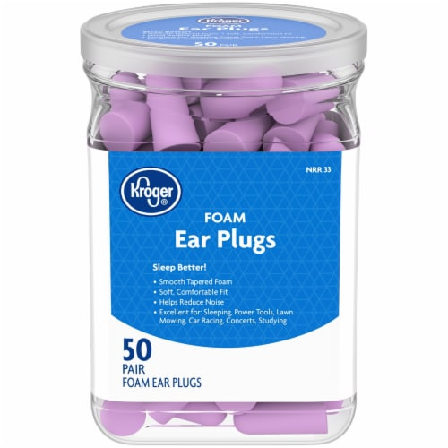 Kroger® Foam Ear Plugs 50 Count Perspective: front
