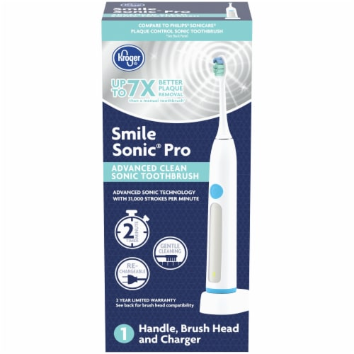 Kroger® Smile Sonic® Pro Advanced Clean Sonic Toothbrush Set Perspective: front