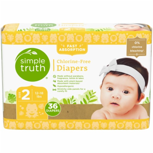 Simple Truth™ Chlorine Free Size 2 Diapers Perspective: front