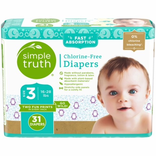 Simple Truth™ Chlorine Free Size 3 Baby Diapers Perspective: front