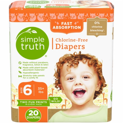 Simple Truth® Chlorine Free Size 6 Baby Diapers Perspective: front