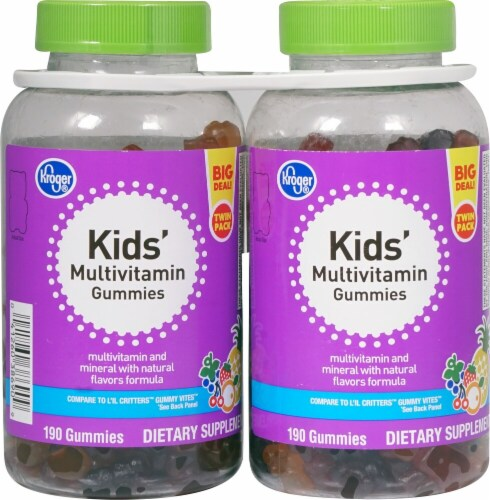 Kroger®  Kids Multivitamin Gummies Twin Pack Perspective: front
