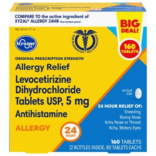Kroger® Original Prescription Strength Allergy Relief Tablets Perspective: front