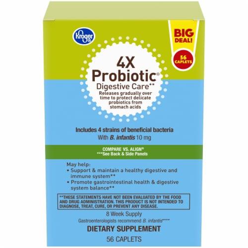 Kroger® 4X Probiotic® Digestive Care Caplets 10mg Perspective: front