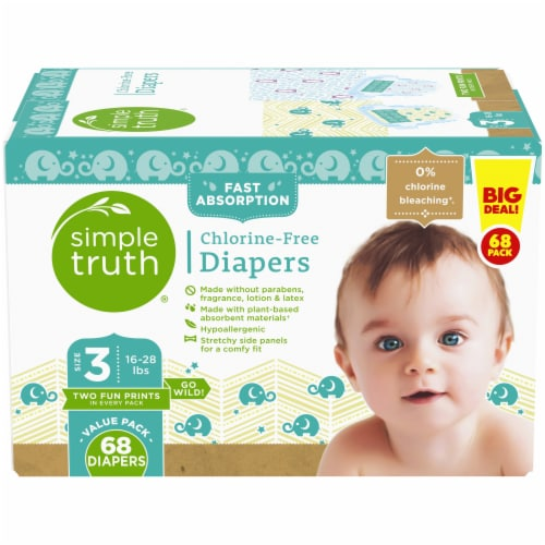 Simple Truth® Chlorine Free Size 3 Baby Diapers Perspective: front