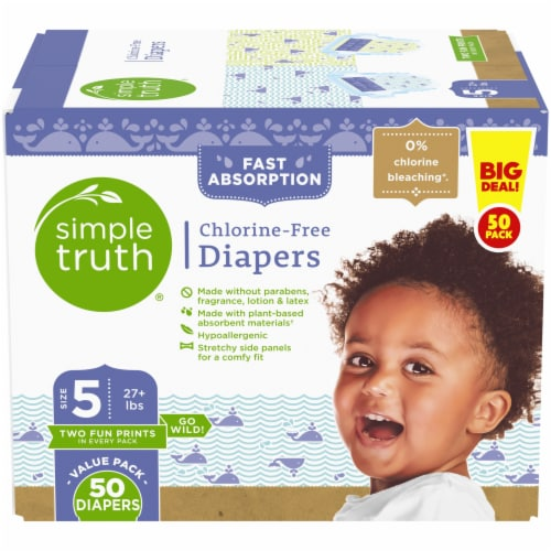 Simple Truth®  Chlorine Free Size 5 Baby Diapers Perspective: front