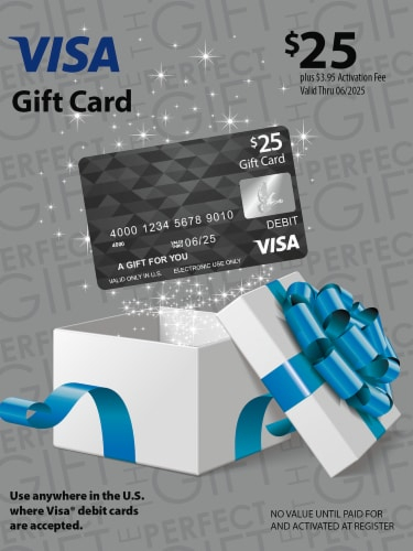 Visa $25 Gift Card ($3.95 activation fee) Perspective: front