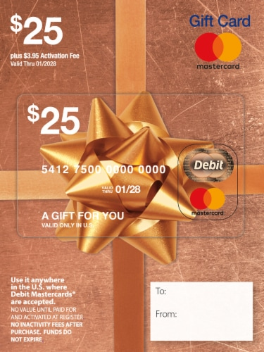 Mastercard $25 Gift Card ($3.95 activation fee) Perspective: front