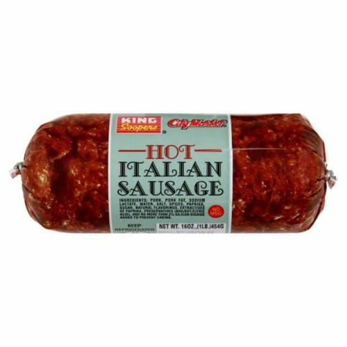 King Soopers® City Market Hot Italian Sausage Perspective: front