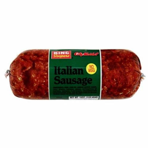 King Soopers Italian Sausage Roll Perspective: front