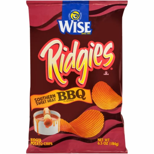 Wise® Ridgies® Southern Sweet Heat BBQ Flavored Ridged Potato Chips Perspective: front